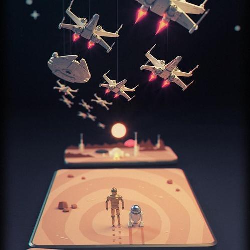 c3p0 r2d2 star wars illustration