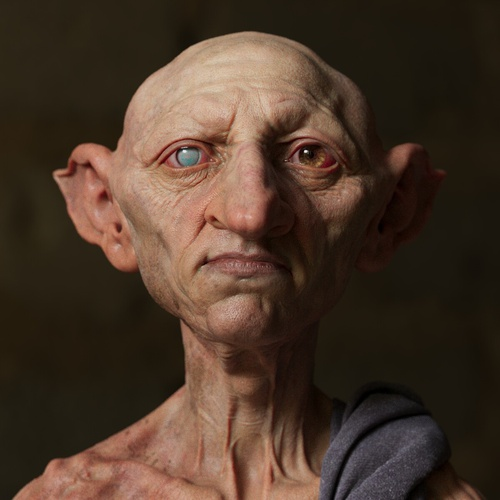 goblin elf fantasy character model 3d profile close up