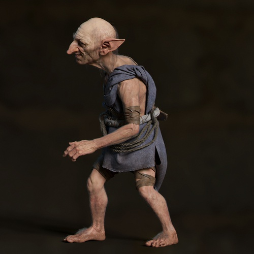 goblin elf fantasy character model 3d render