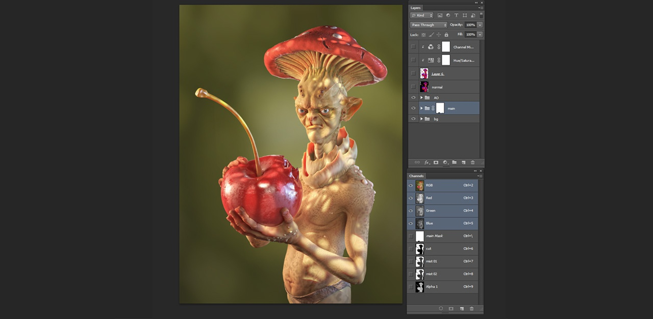 pose fixing image cropping retouching 3d model