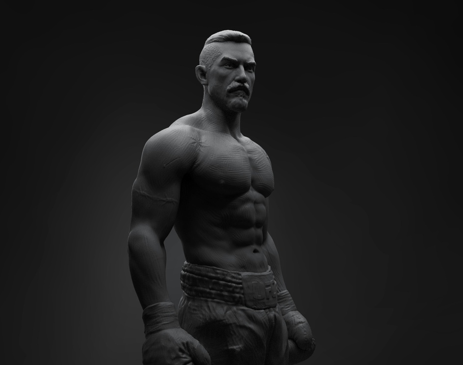 ''BOYKA'' WIP CLAY RENDERS.by ANURAG BHATT