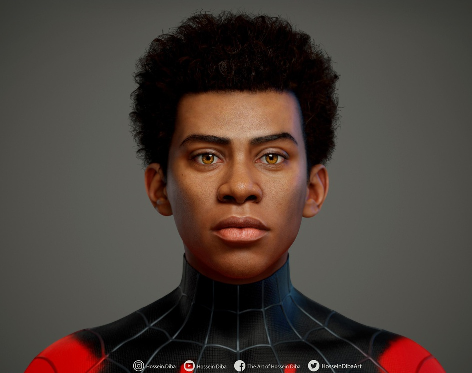 Realistic 3D Model of Miles Morales (Real Time)by Hossein_Diba