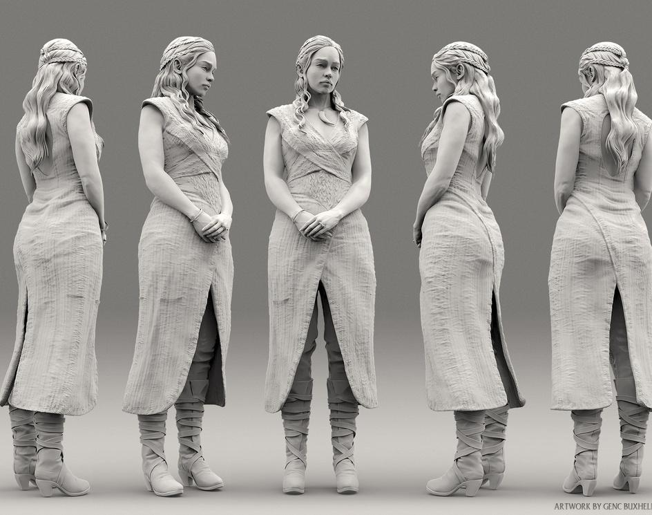 Daenerys Targaryen Sculptby Genc Buxheli