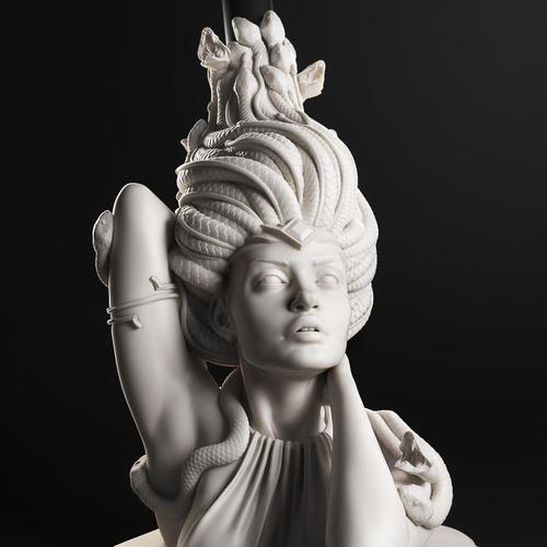 medusa greek mythology 3d model