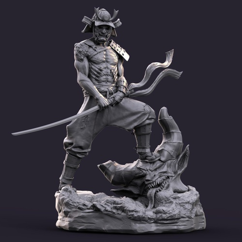 statue samurai warrior male