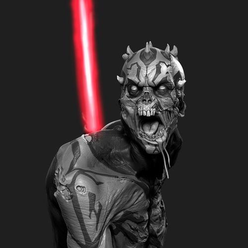darth maul zombie 3d model