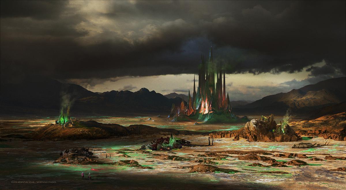 fantasy desert landscape 2d