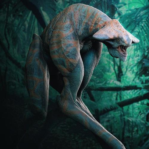 alien jungle 3d art