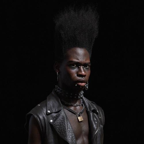 fashion goth male realistic portrait character design