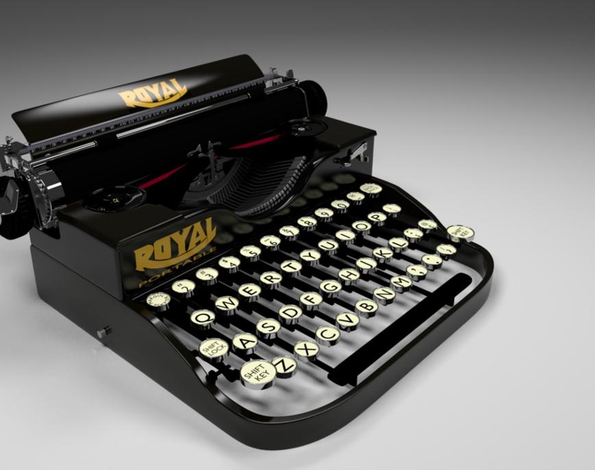 129 Royal Portabel Typewriterby Elsdon