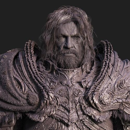 old man bearded warrior