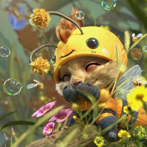 bee character league of legends 3d model