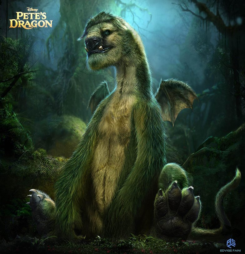 pete's dragon in forest