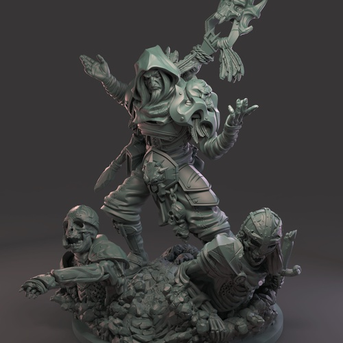 necromancer sculpture