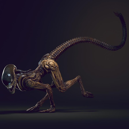 alien xenomorph hr giger 3d art