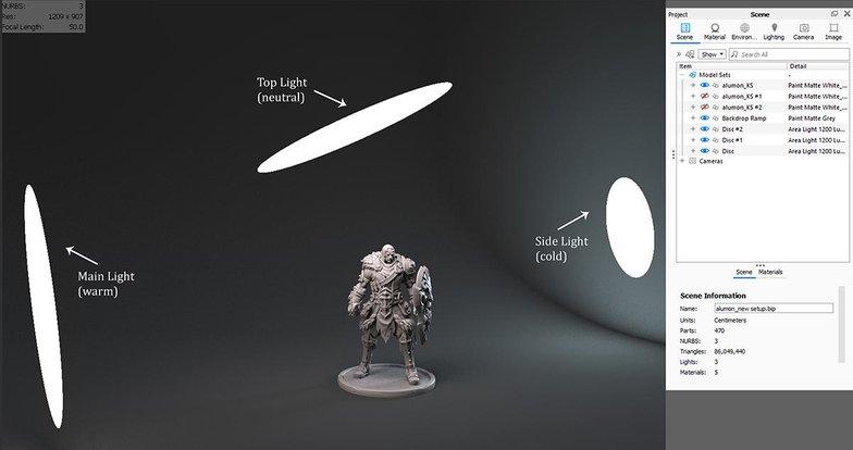lighting shot for character