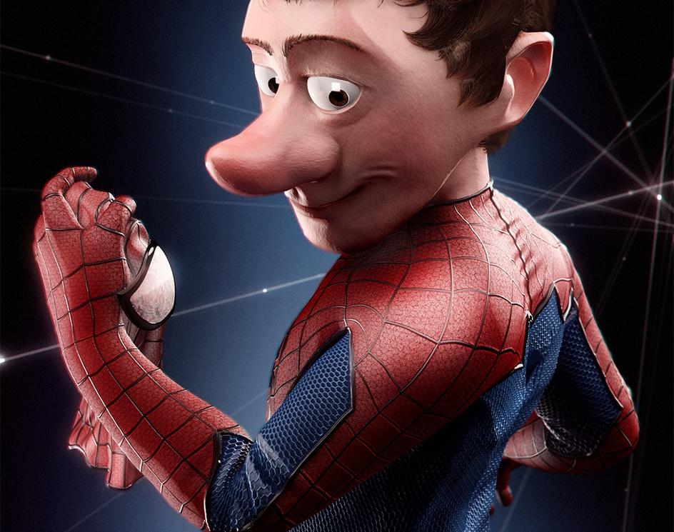 "Spider ""cartoon"" Manby victor_trovato"