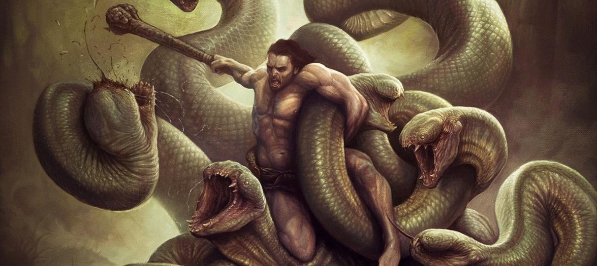 Greek mythology hydra hercules herakles epic
