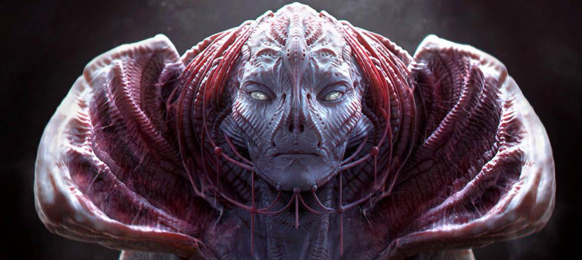 female alien queen empress 3d art