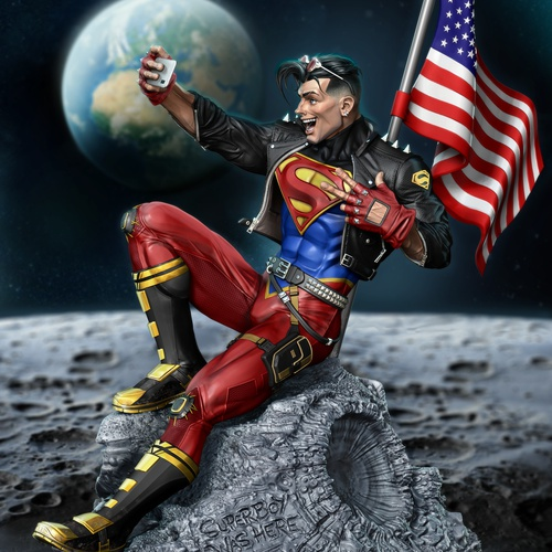 superboy on the moon 3d character design