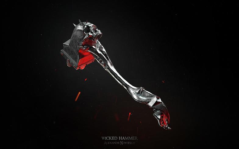 Alexandr Novitskiy fantasy skull warhammer