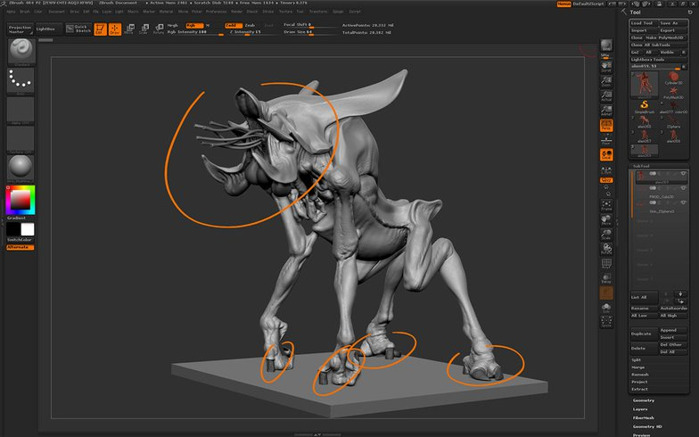 adding noise to the creature
