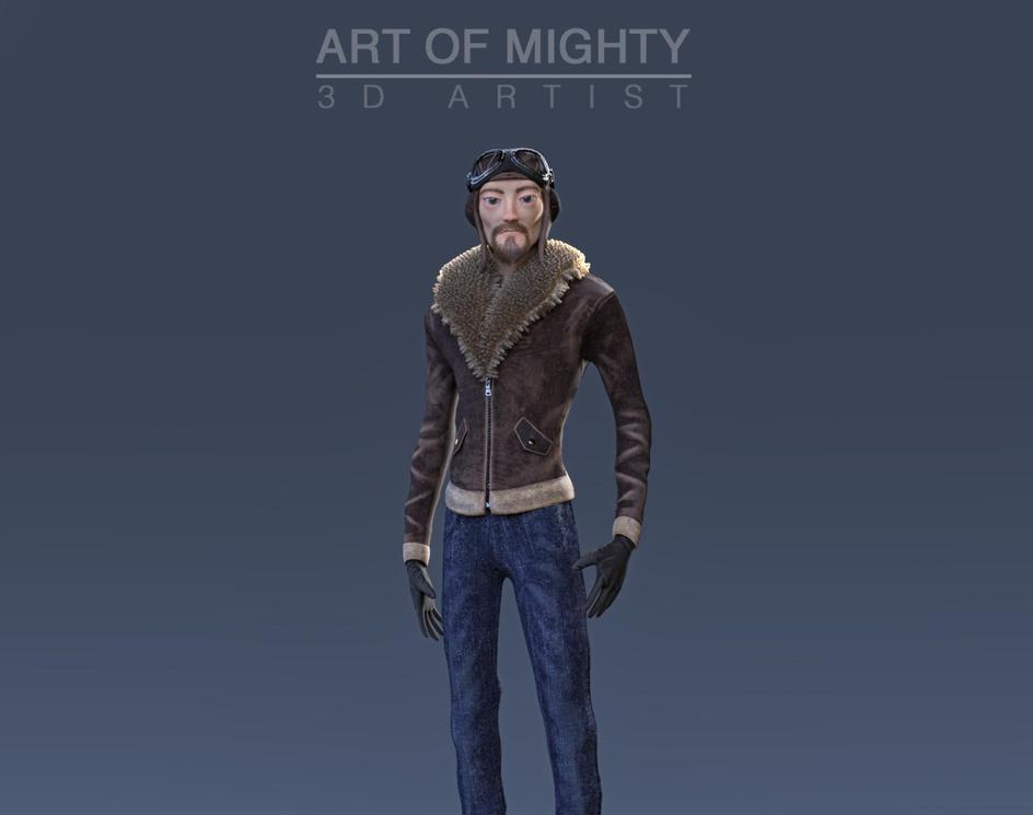 Stylized 1920's aviatorby Art of Mighty
