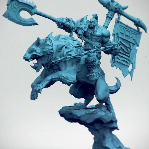 world of warcraft 3d model fan art battle scene