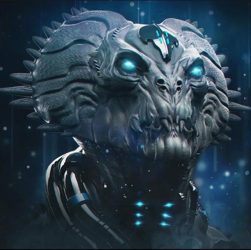 alien 3d art