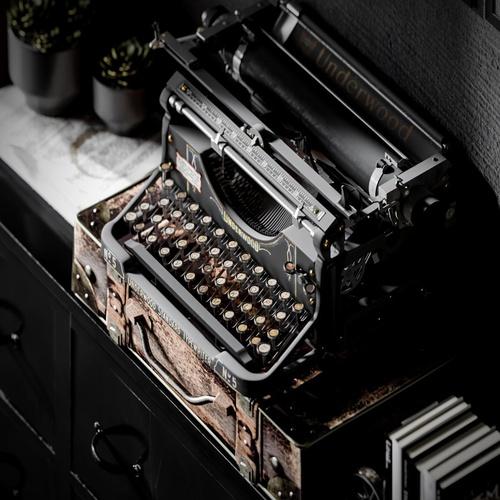 old typewriter model 3d sculpt interior design render office