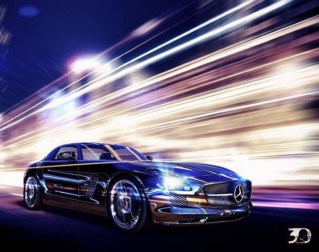 Mercedes Benz outdoor advertisingby Mahmoud_youssef