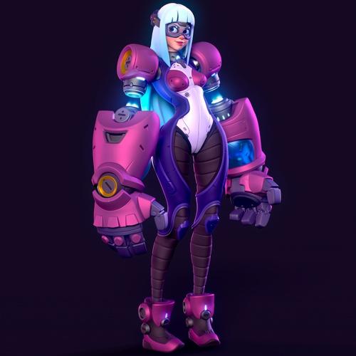 arslan shyriiev sci-fi character model design female art