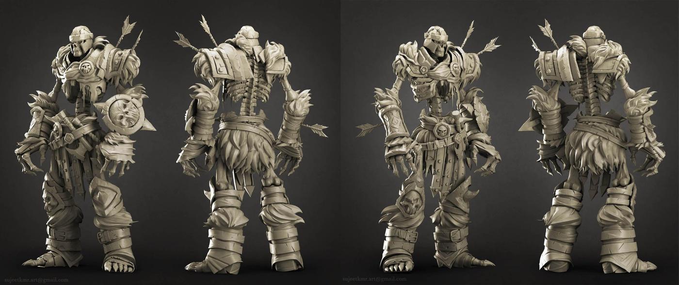 skeleton soldier 3d model
