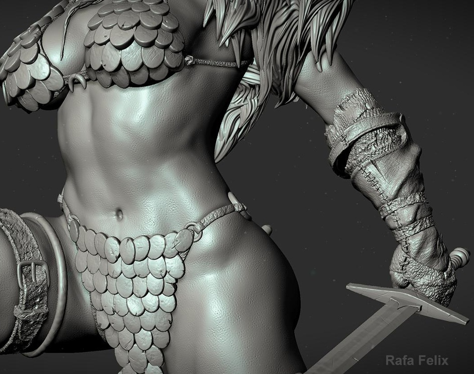 Red Sonja - She-Devil with a Swordby Rafael-Felix