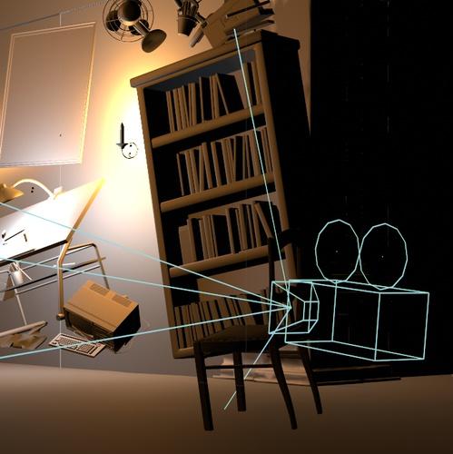 bookcase camera direction source filter editing modeling room setup