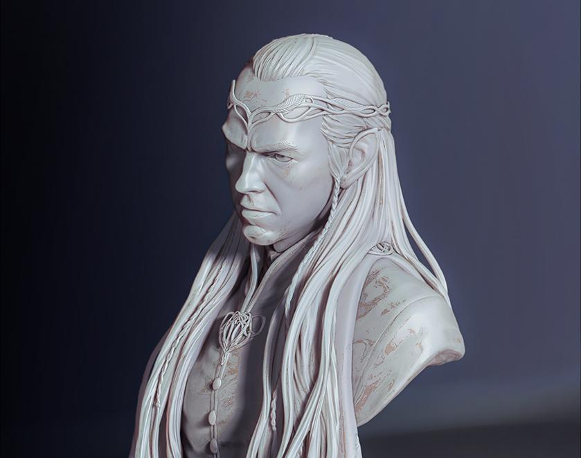Bust:Elrond-Lord of Rivendell (FanArt)by Helena Shin