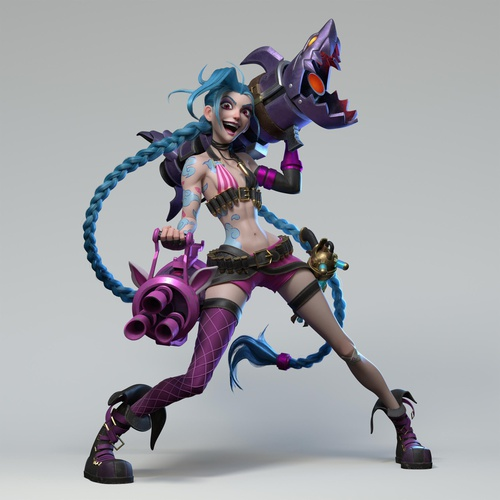 league of legends female character warrior gaming girl design