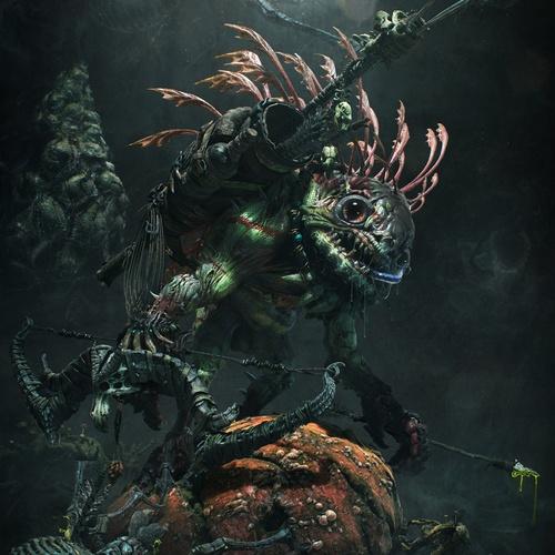 venom hunter 3d creature design model