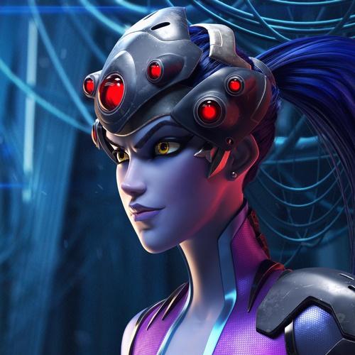 overwatch widowmaker 3d character fan-made model