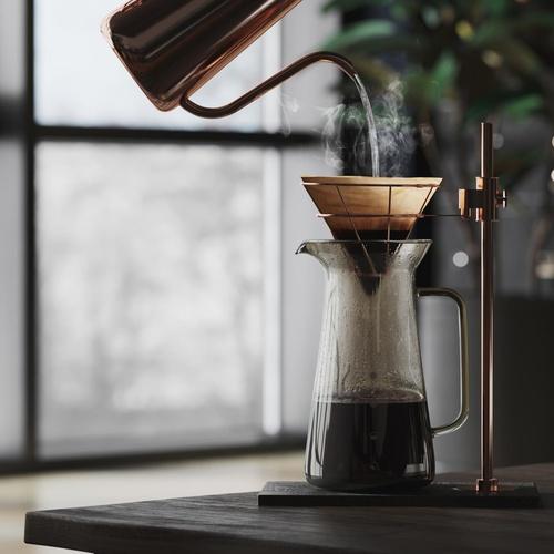 coffee blender maker 3d realism interior design