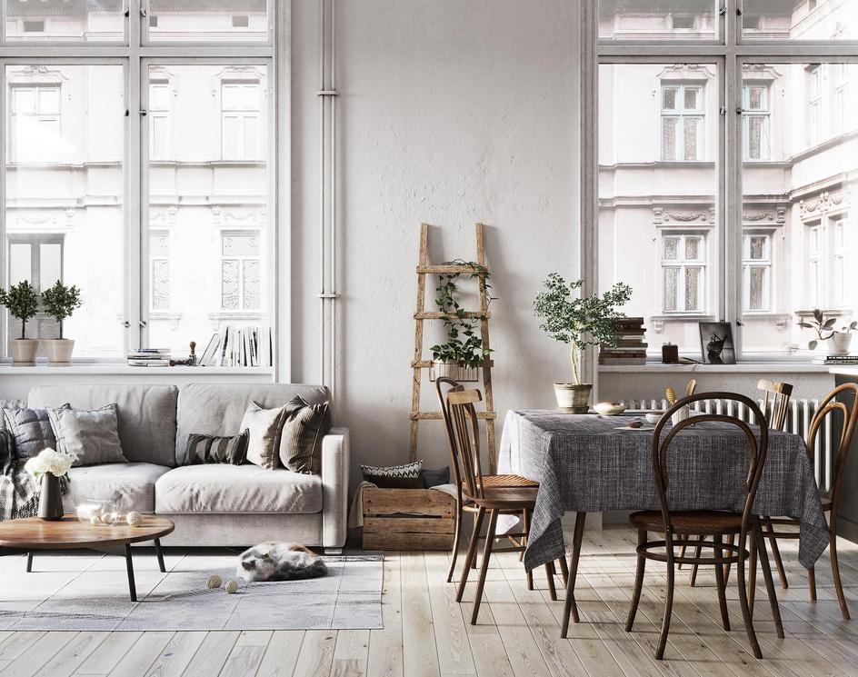 Scandinavian Living roomby CAVStudio