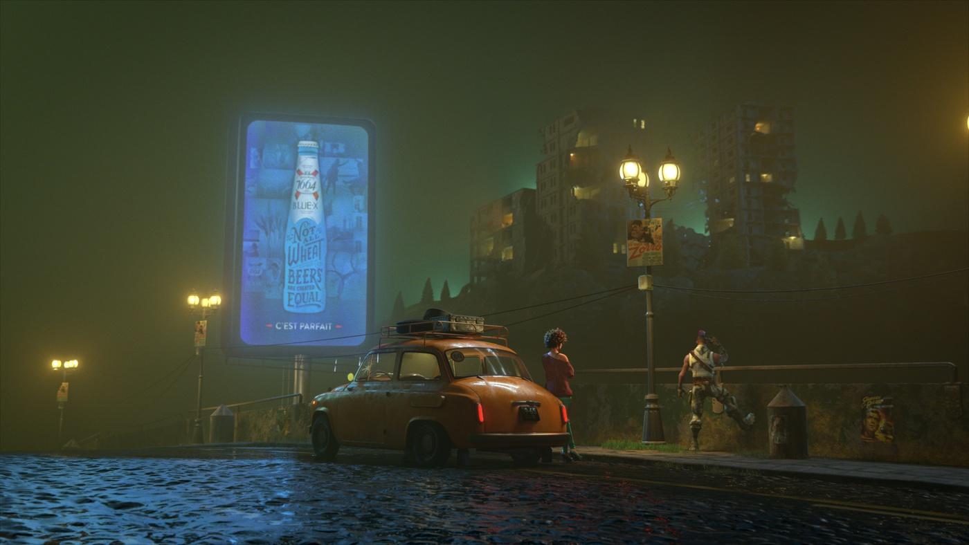 dark night scenery model environment apocalyptic