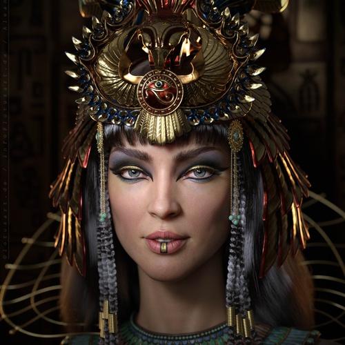 cleopatra heiress realistic portrait
