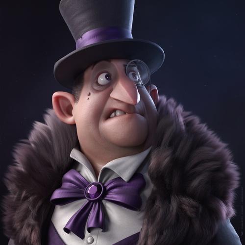 cobblepot penguin 3d male mode character stylised render