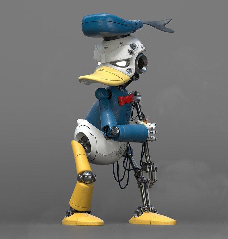 cyborg donald duck