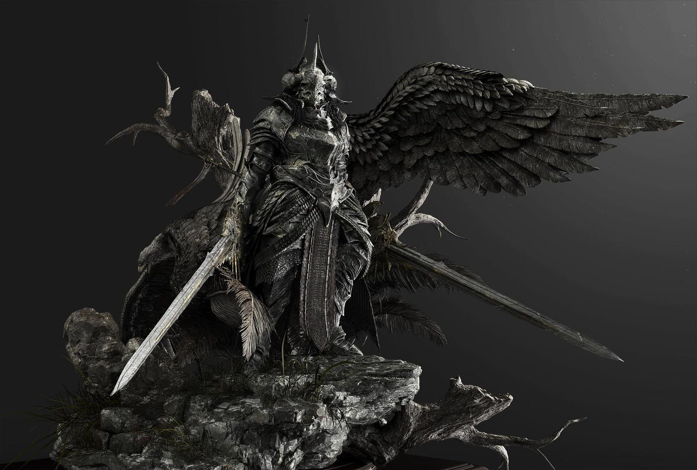 3d sculpt warrior character