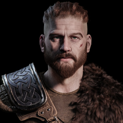 model profile bust warrior viking fantasy