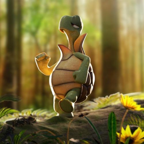 turtle animal reptilian character creature design 3d