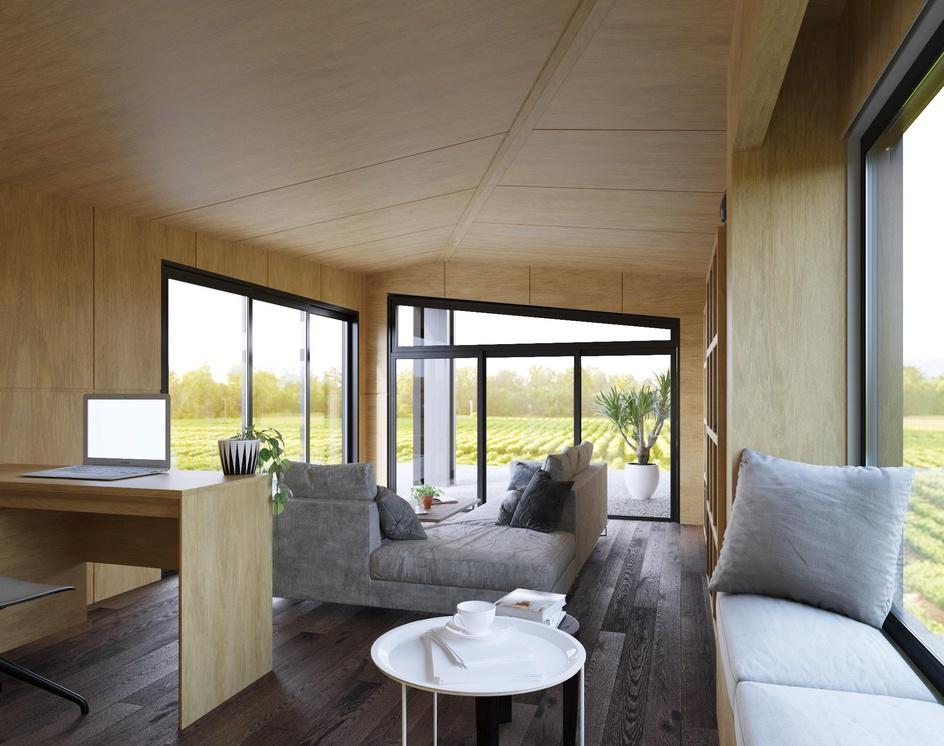 Modern Tiny Home in Switzerlandby DEER Design