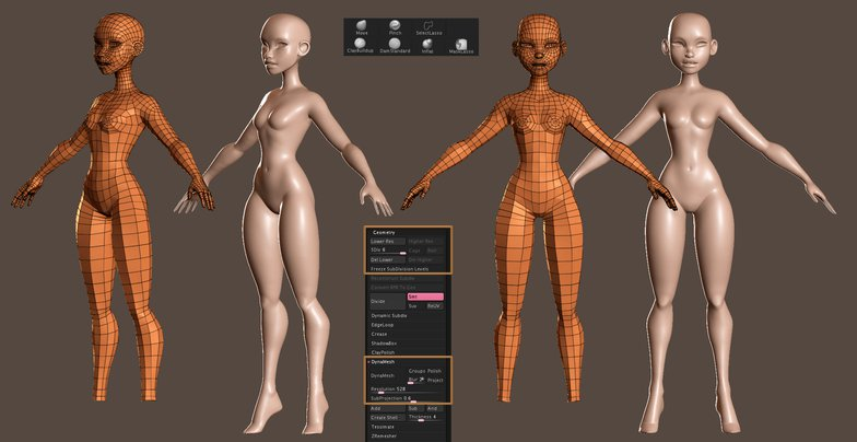 character rigging zbrush